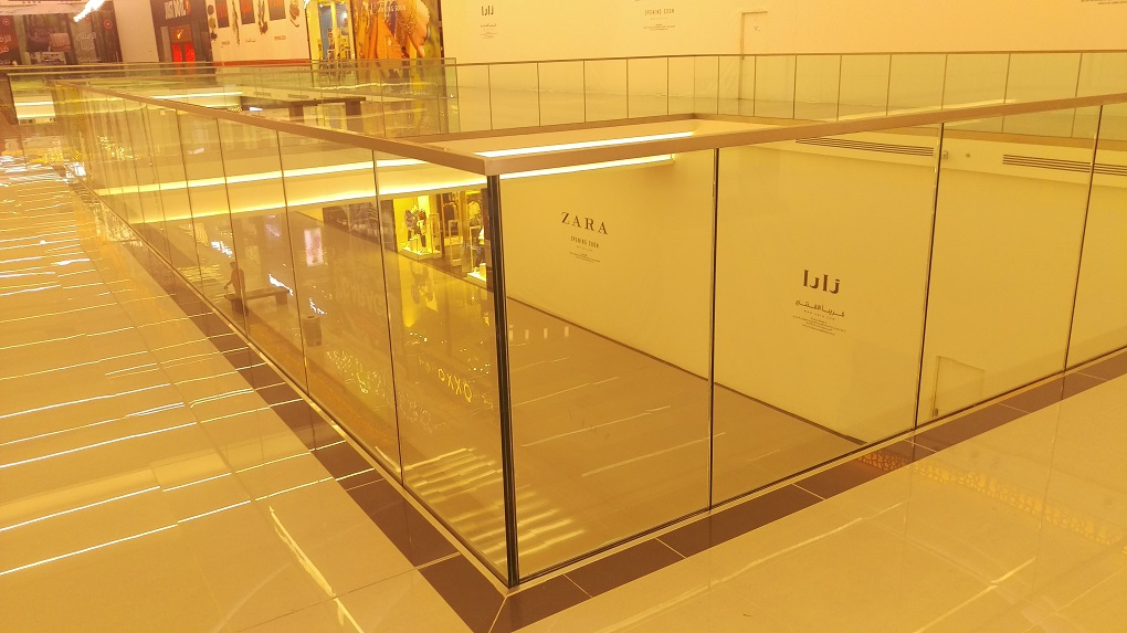 Our Glass Railing Systems are used in Al Hamra Mall in Ryadh