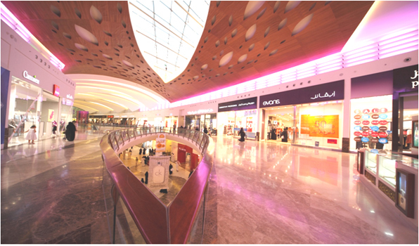 Mall of Arabia'da Cam Kanalı Sistemlerimiz Kullanıldı