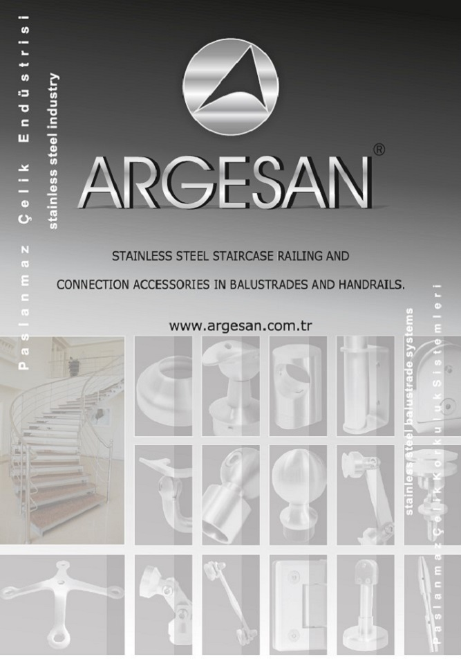 Argesan SS Handrail and Baluster, Glass Fittings Catalog