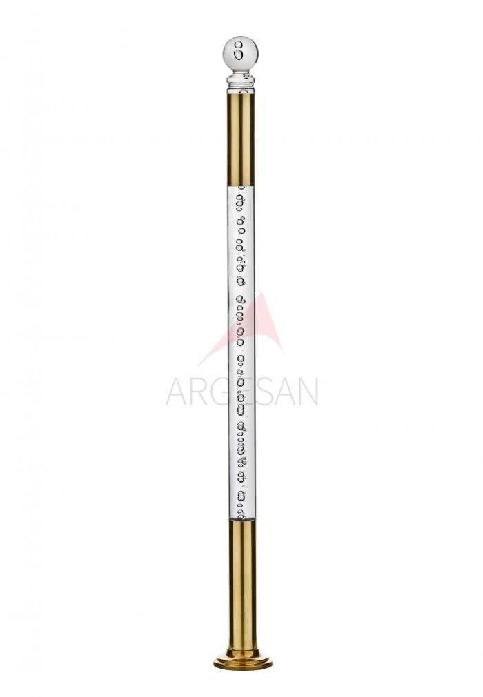 2620 Plexiglass Newel with Bubbly