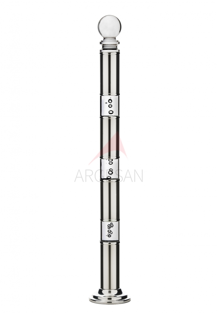 2709 -3 Psc Plexiglass Newel with Bubbly