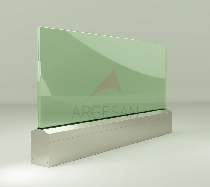 AR 100 On Floor Glass Supporting System