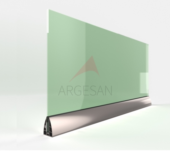 AR-60 On Floor Upstand Glass Supporting System