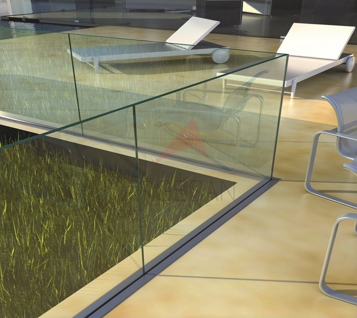 CA50 In Floor Glass Supporting System