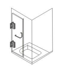 AR 3015 Glass to Wall Hinge Teknik Çizim