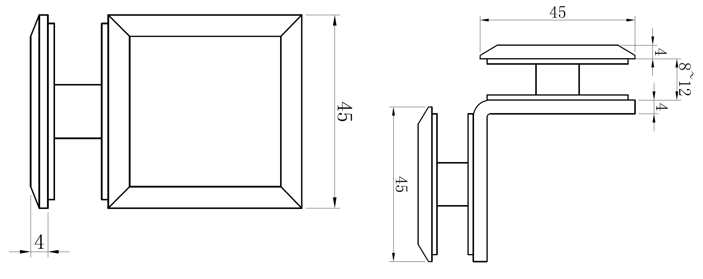 AR 3113 Glass to Glass Connector Teknik Çizim