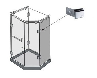 AR 3116 Glass Wall Connector Teknik Çizim