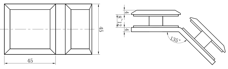 AR 3117 Cam Cama Tutucu Teknik Çizim