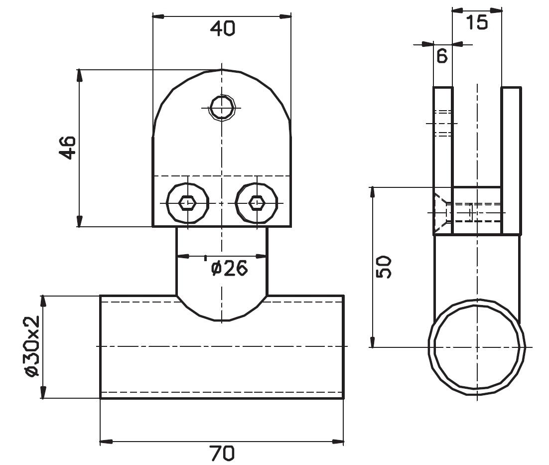 Cubicle Askı 32610 Teknik Çizim