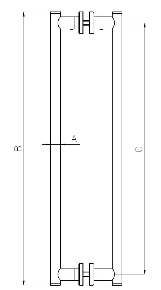 CK-01 Kapı Kolu Teknik Çizim