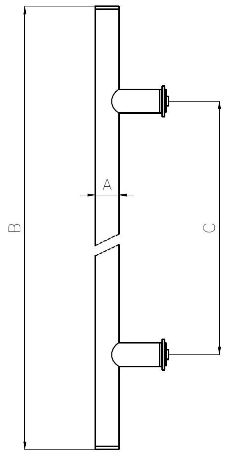 CK-04 Kapı Kolu Teknik Çizim