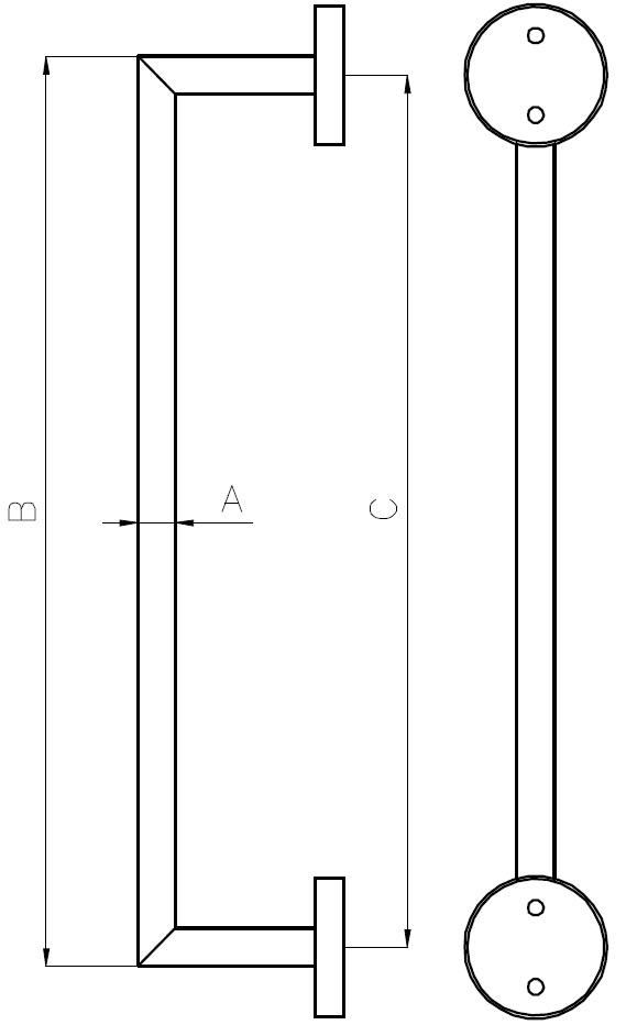 DK-02 Door Handle Teknik Çizim