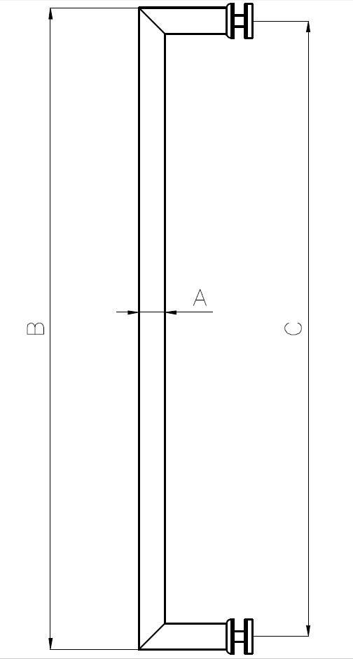 DK-04 Kapı Kolu Teknik Çizim