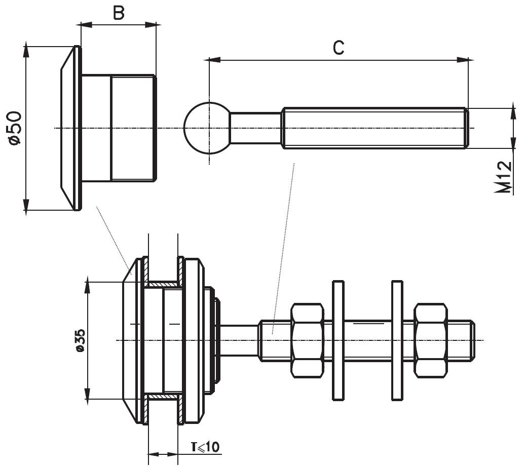 SPR-50 / SPIDER ROTİL Q50 Teknik Çizim