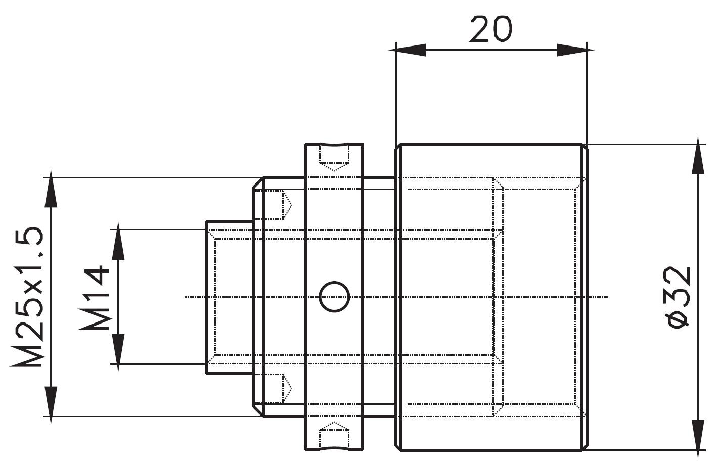 SK-32x20 / SPIDER KONNEKTÖRÜ 32x20 (10mm AYARLI) Teknik Çizim