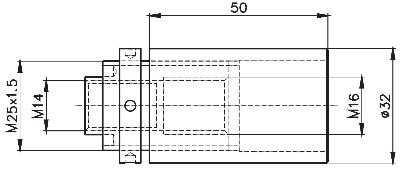 SK-32x50 / SPIDER KONNEKTÖRÜ 32x50 (30mm AYARLI) Teknik Çizim