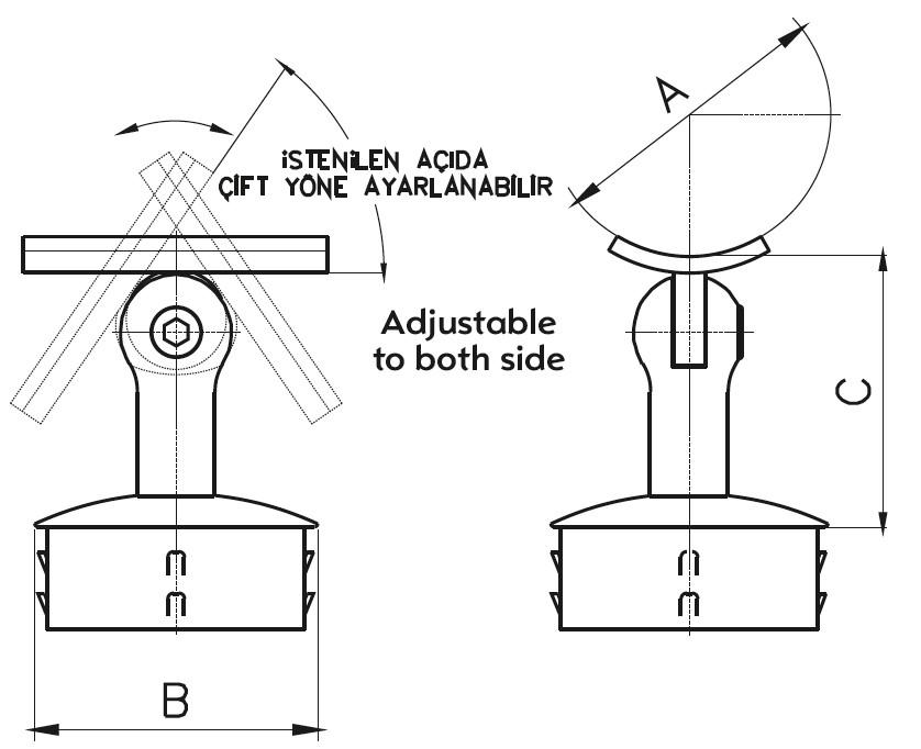 DM-200 Dikme Mafsal Teknik Çizim