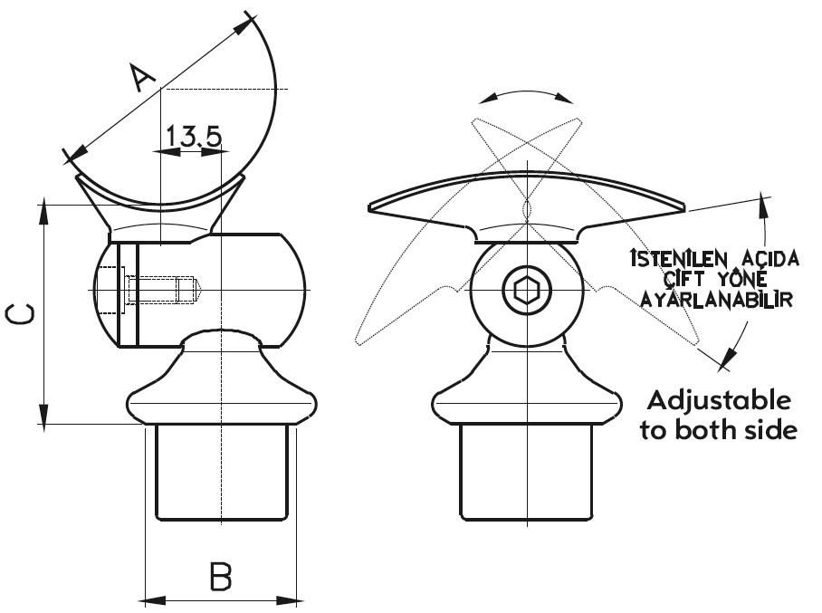 DM-300 Dikme Mafsal Teknik Çizim