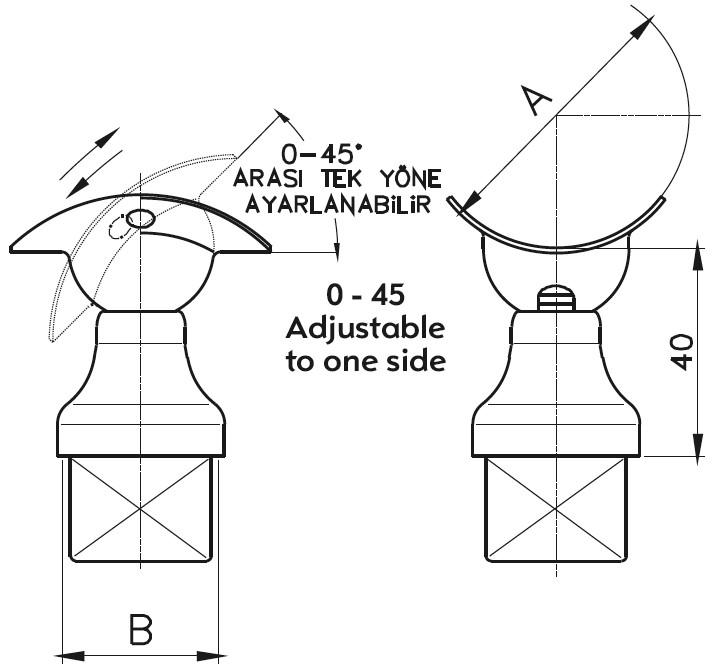 DM-500 Handrail Bracket Teknik Çizim