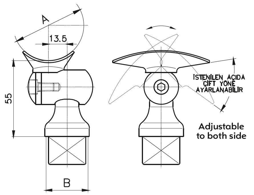 DM-600 Dikme Mafsal Teknik Çizim