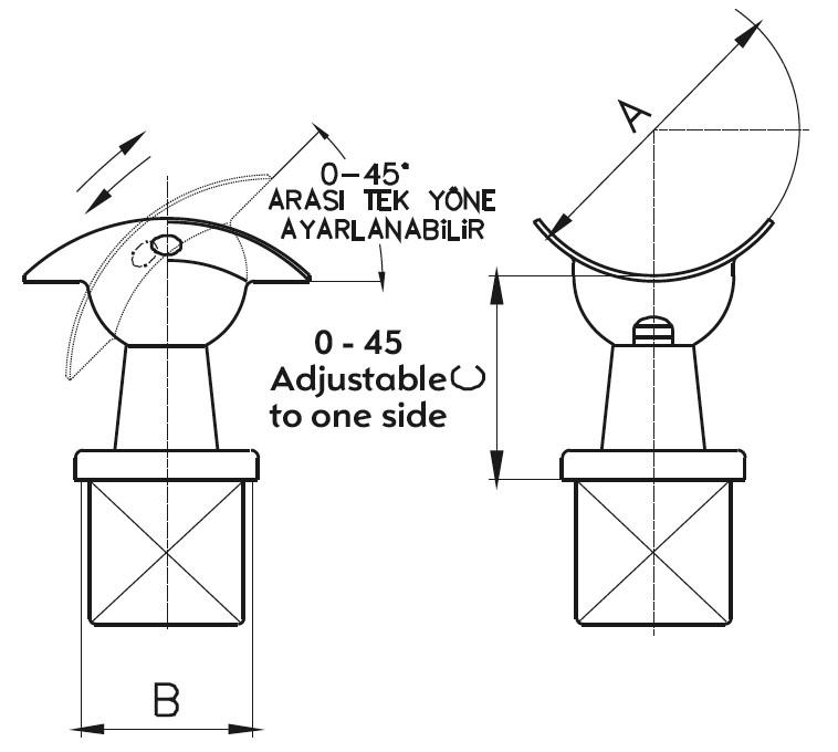 DM-700 Dikme Mafsal Teknik Çizim