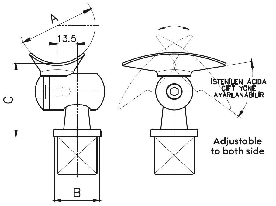 DM-800 Dikme Mafsal Teknik Çizim