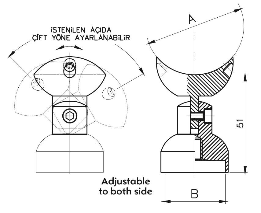 DM-900 Dikme Mafsal Teknik Çizim