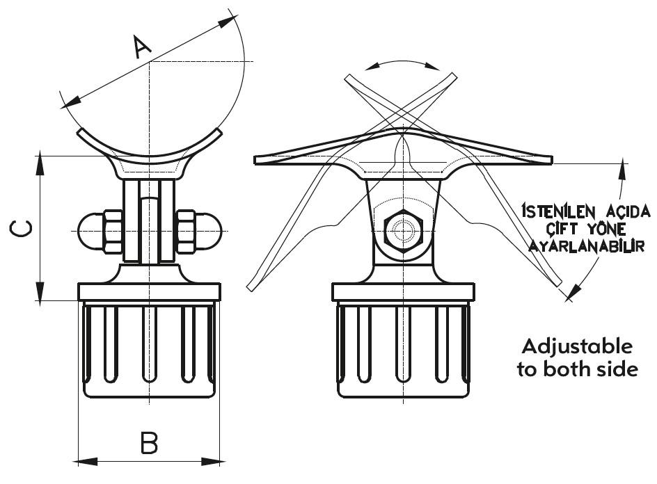 DM-1000 Handrail Bracket Teknik Çizim