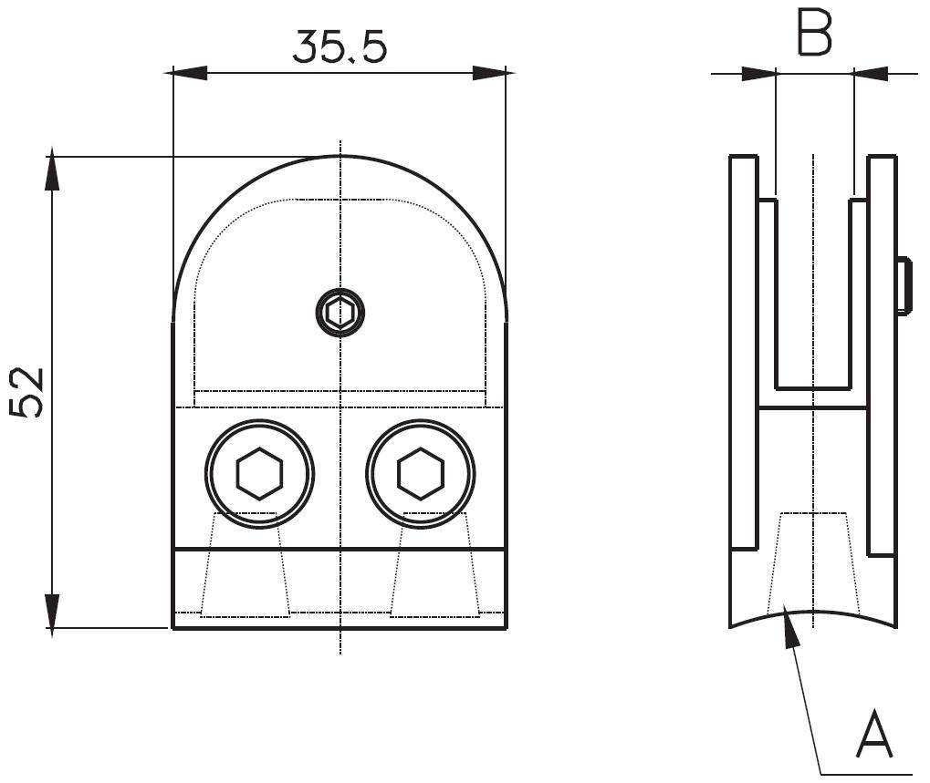 DCK-200 / OVAL CAM TUTUCU (8-10mm CAMA) Teknik Çizim