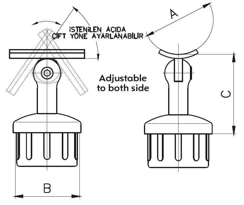 DM-1200 Dikme Mafsal Teknik Çizim