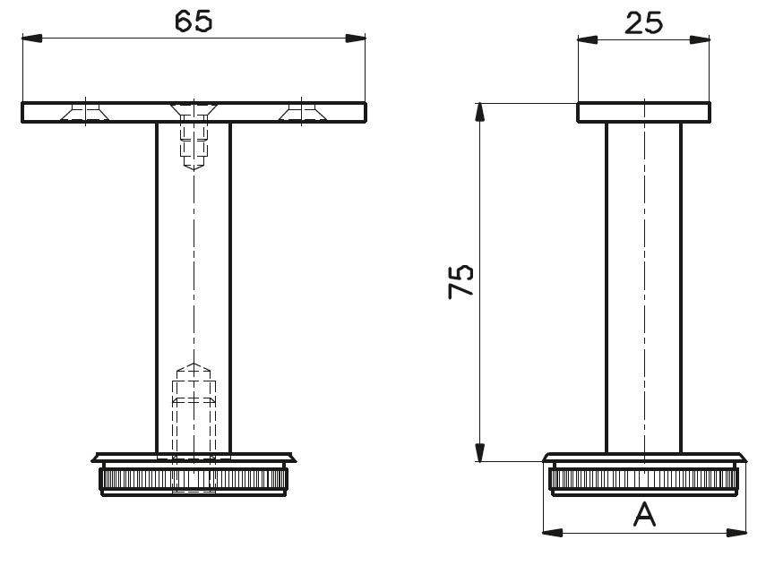 DM-1500 Handrail Bracket Teknik Çizim