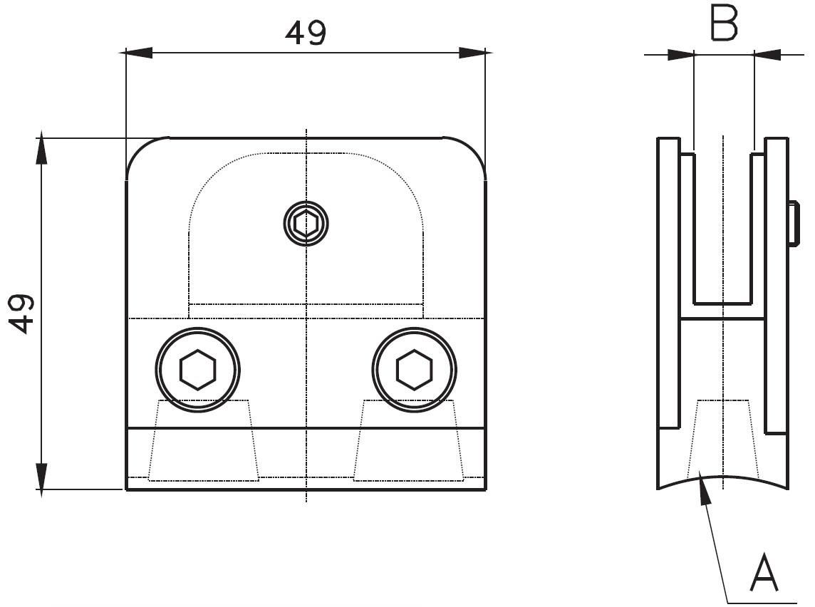 DCK-400 / CAM TUTUCU (8-10mm CAMA) Teknik Çizim