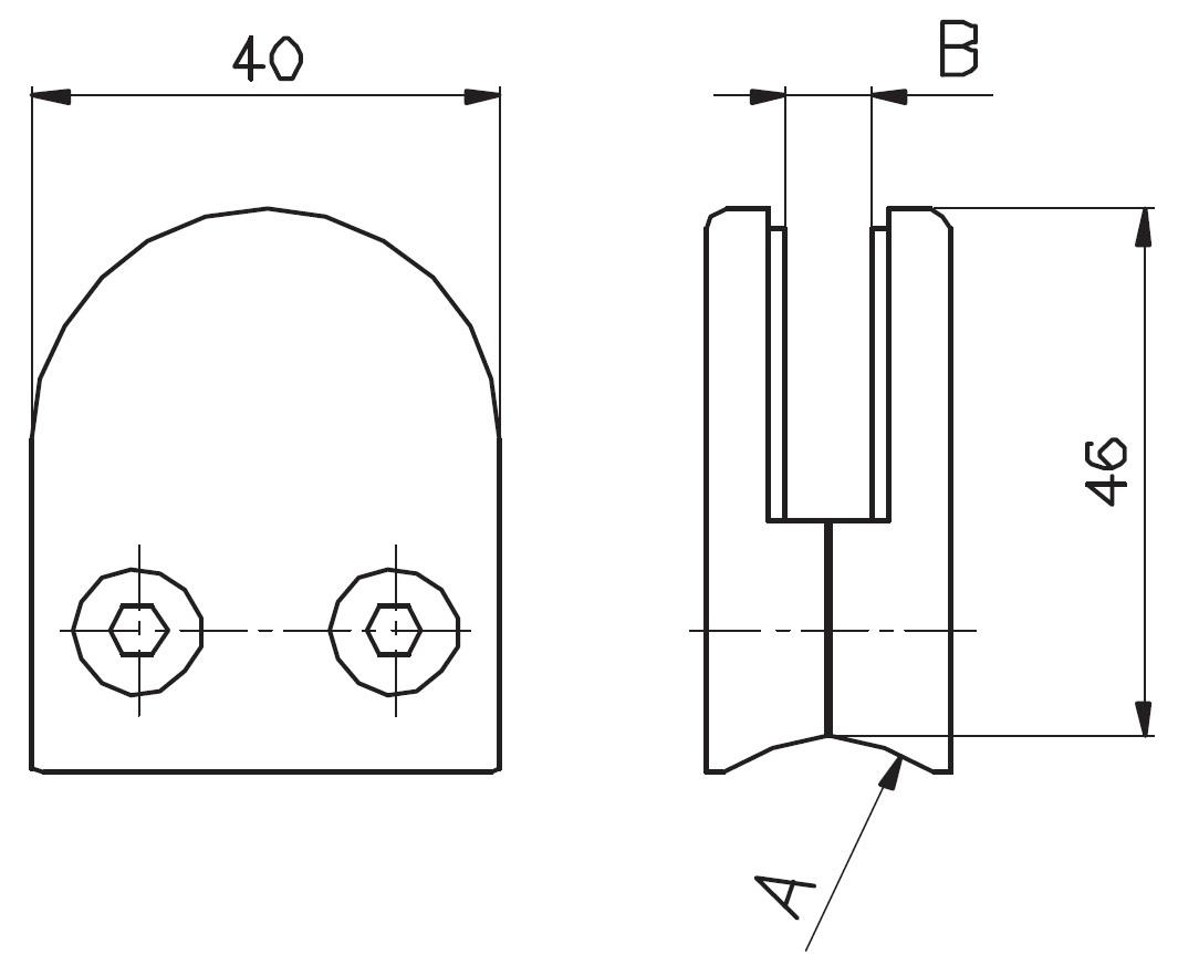 DCK-600 / OVAL CAM TUTUCU (8-10mm CAMA) Teknik Çizim