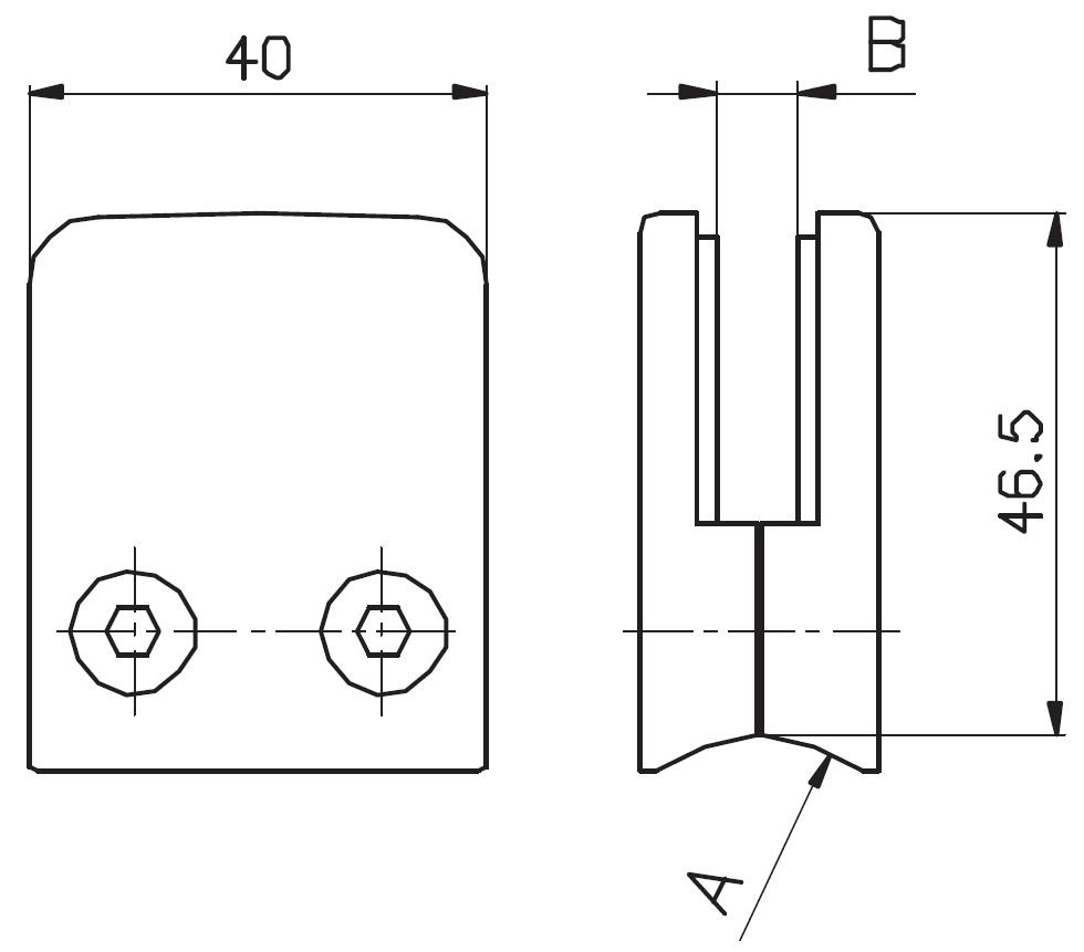 DCK-700 / CAM TUTUCU (8-10mm CAMA) Teknik Çizim