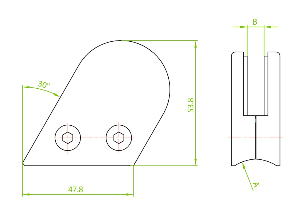 DACK-800 / CAM TUTUCU (8mm CAMA) Teknik Çizim