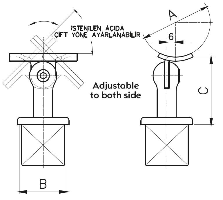 DMKA-02 Dikme Mafsal Teknik Çizim