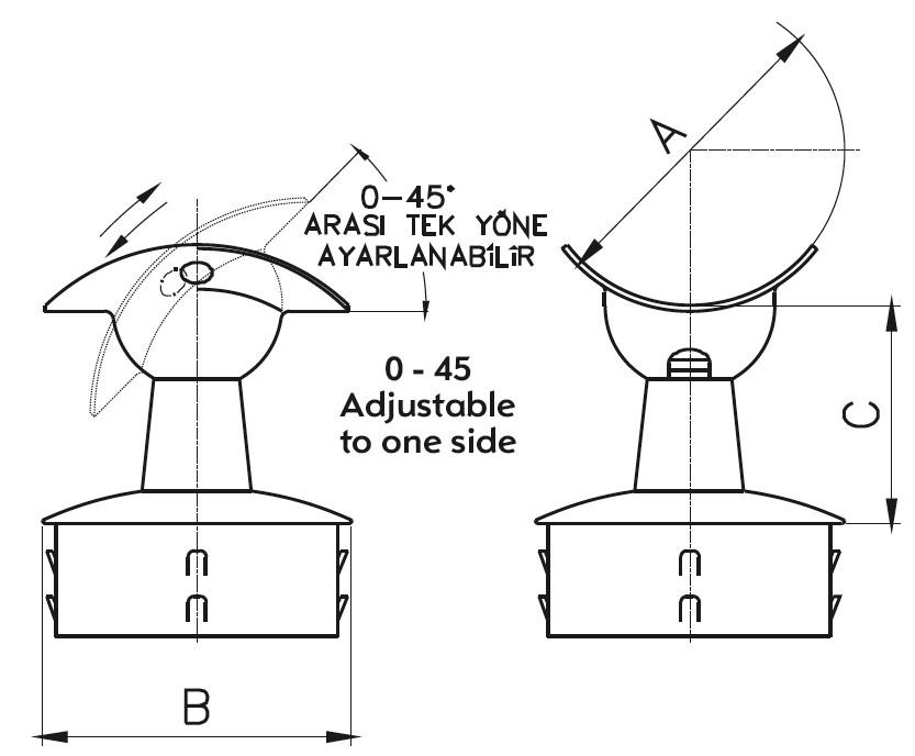 DMTK-100 Handrail Bracket Teknik Çizim
