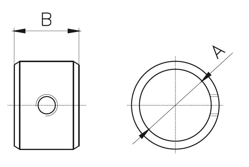 BY-100 Bağlantı Yüzük Teknik Çizim