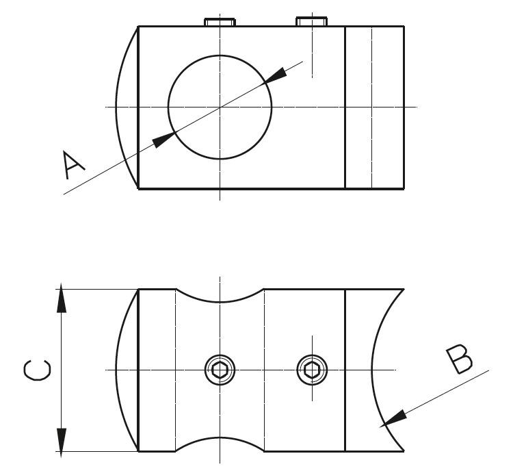 BY-300 Kurt Ağızlı Bağlantı Yüzük Teknik Çizim