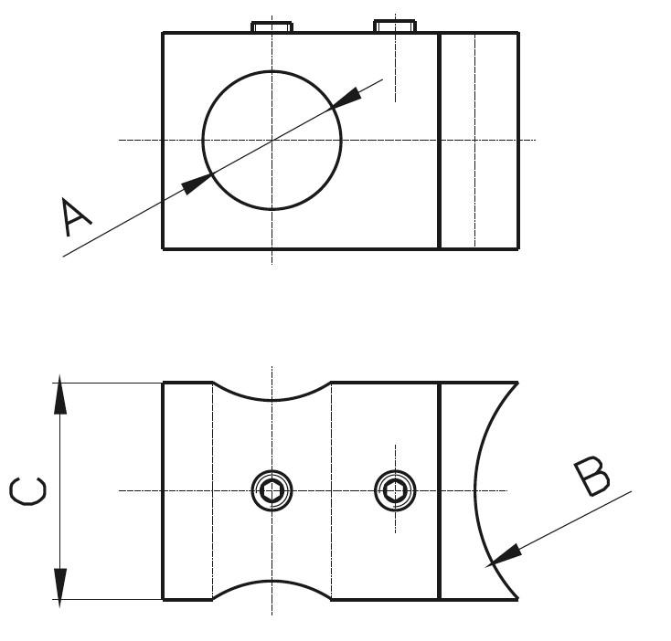 BY-301 Düz Kurt Ağızlı Bağlantı Yüzük Teknik Çizim