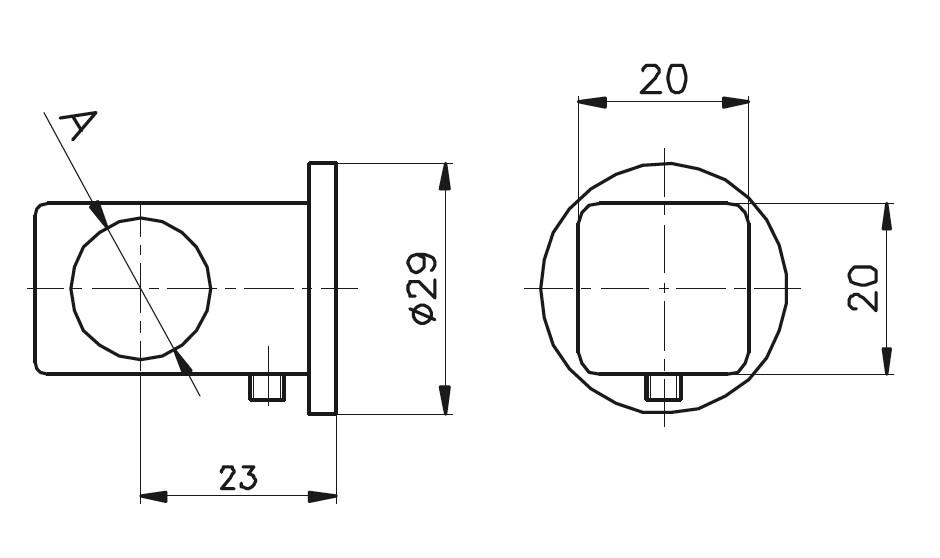 BY-302 Kare Bağlantı Yüzük Teknik Çizim