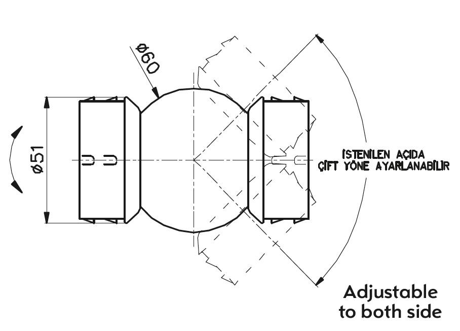 HD-51 / HAREKETLİ DİRSEK Teknik Çizim