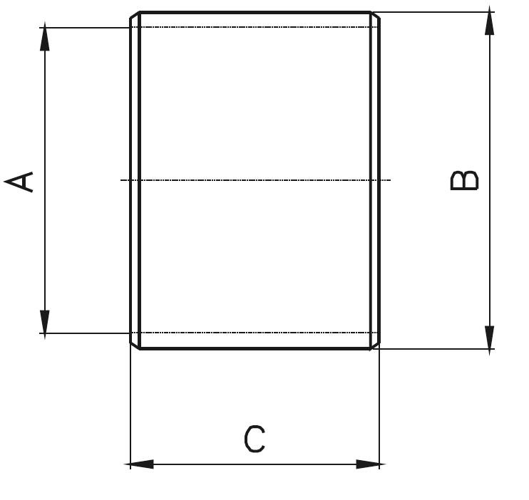 B - Bilezik Teknik Çizim