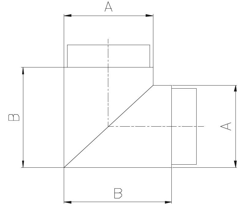 KKM / KAYNAKLI KÖŞE MAFSAL Teknik Çizim