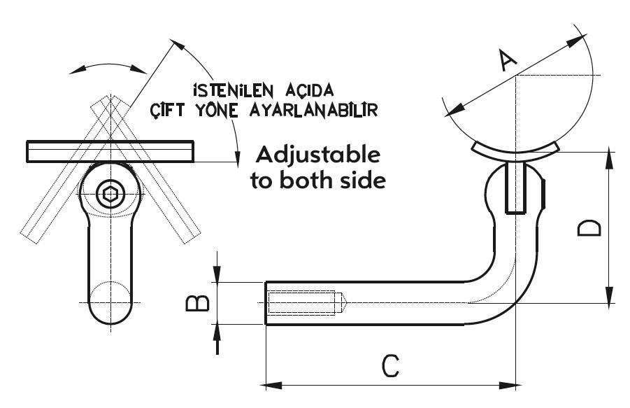 HR-100 Dikme Kolçağı Teknik Çizim