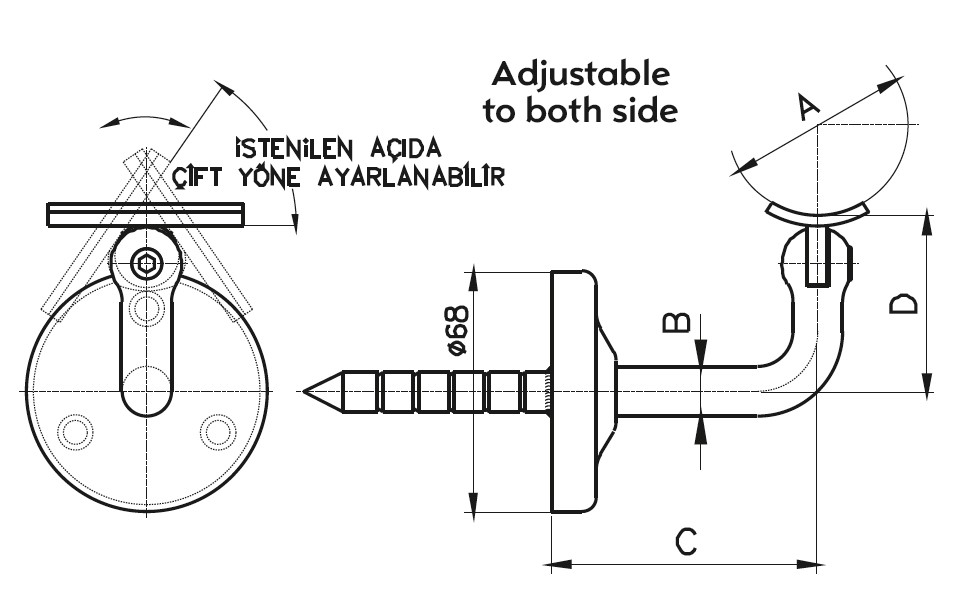 HR-300 Dikme Kolçağı Teknik Çizim