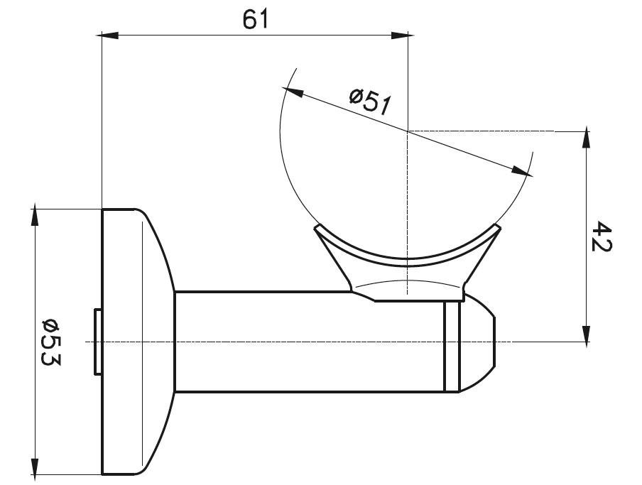 HR-500 Dikme Kolçağı Teknik Çizim