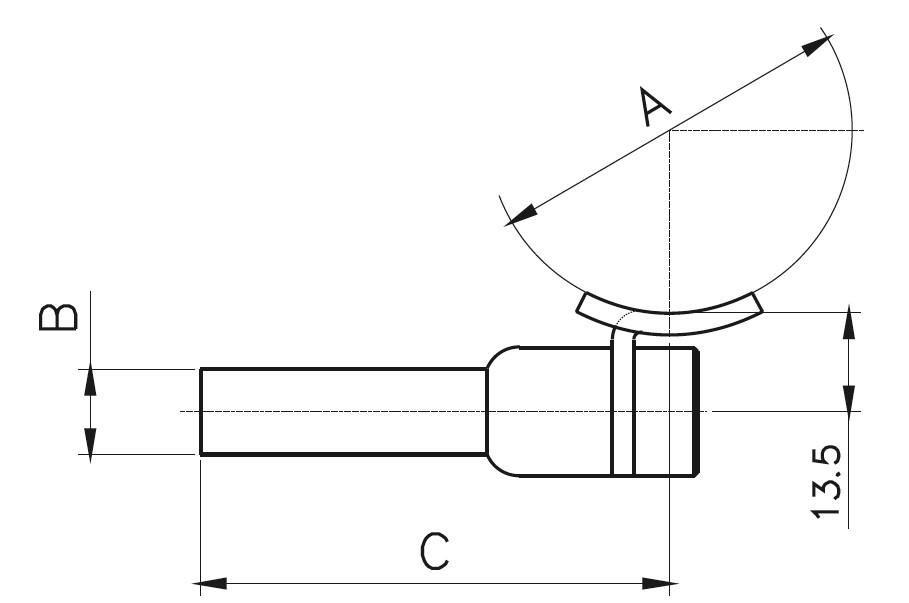 HRA-500 Dikme Kolçağı Teknik Çizim