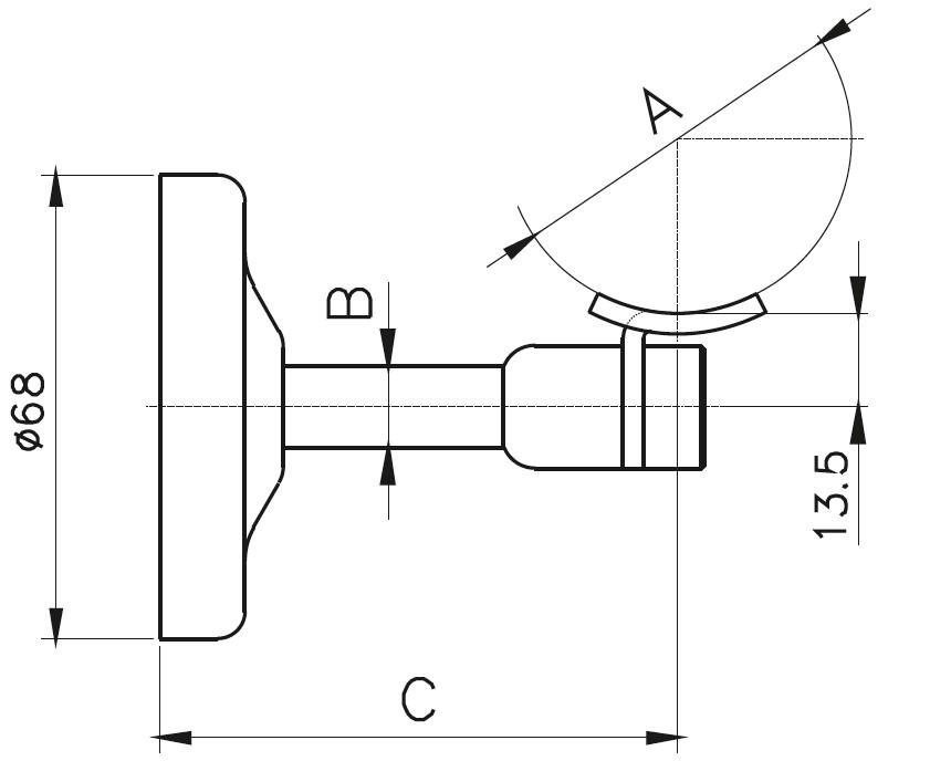 HRA-700 Dikme Kolçağı Teknik Çizim