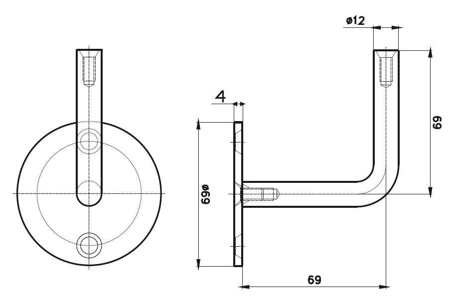 HR-800 Dikme Kolçağı Teknik Çizim